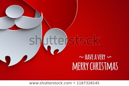 Santa claus paper cut card template for christmas Stock photo © cienpies