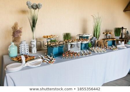 Collations poissons viande buffet gala réception Photo stock © ruslanshramko