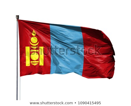Mongolia flag isolated on white Stock photo © daboost