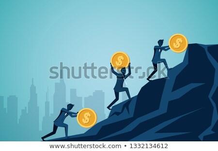 знак · человека · восемь · евро · пятьдесят · заработная · плата - Сток-фото © studiostoks