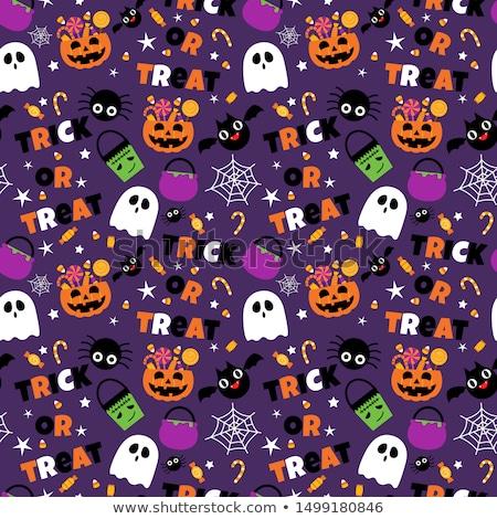 halloween pattern set vector illustration stock photo © lemony