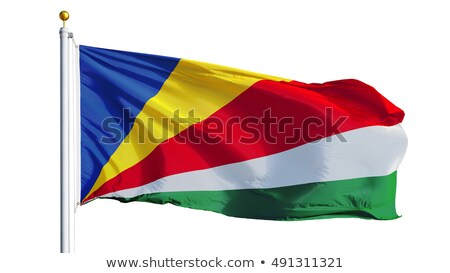 seychelles flag isolated on white stock photo © daboost