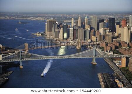 Liberty bridge aerial view Stock photo © Givaga
