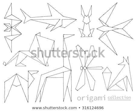 Estilizado libélula vetor logotipo etiqueta Foto stock © blaskorizov