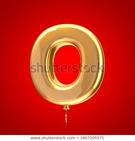 Golden font letter O 3D Stock photo © djmilic