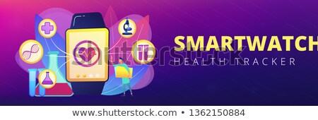 Smartwatch health tracker concept banner header. Stock photo © RAStudio