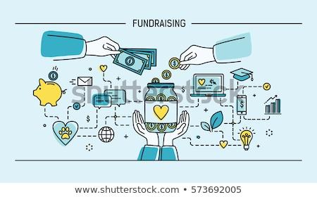 Investitionen Fonds Banner Kopfzeile Manager Laptops Stock foto © RAStudio