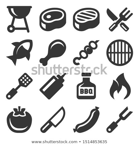 hot bbq barbecue icons set vector illustration stock photo © robuart