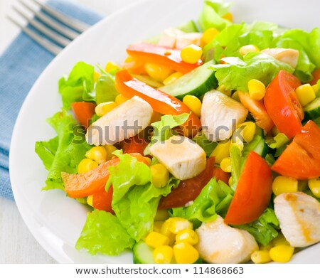 salad with corn and chicken stock photo © tycoon