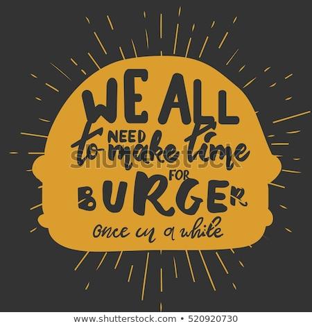 Hamburger posterler ayarlamak fast-food Asya Stok fotoğraf © robuart