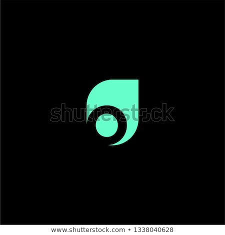 geometric leaf letter o green logo vector symbol stock photo © blaskorizov
