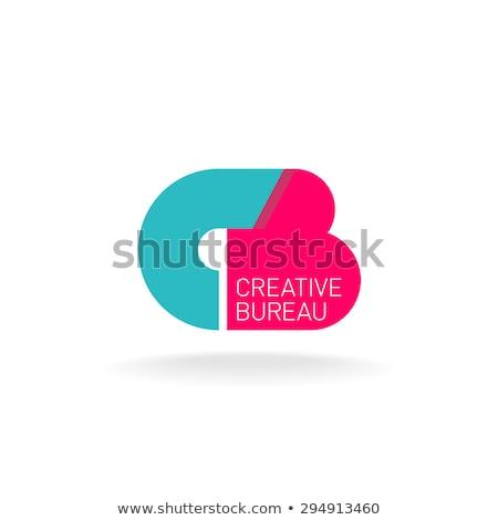 ストックフォト: 手紙c · ロゴ · アイコン · 緑 · 赤 · ベクトル