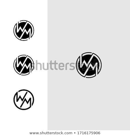 letter m and w icon logo symbol Stock photo © blaskorizov