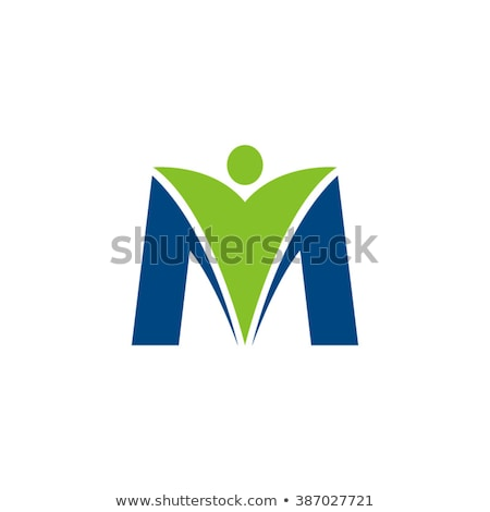 letter m blue symbol logotype vector Stock photo © blaskorizov
