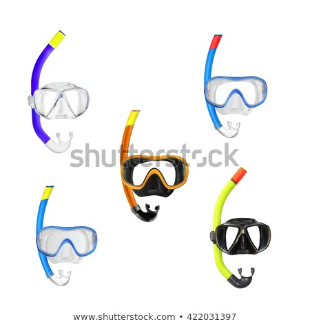 Stock photo: Scuba divers and different equipments