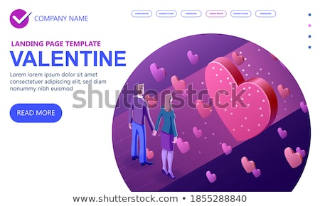 love letter   modern colorful isometric vector illustration stock photo © decorwithme