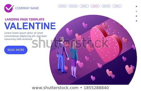 Stock photo: Love letter - modern colorful isometric vector illustration