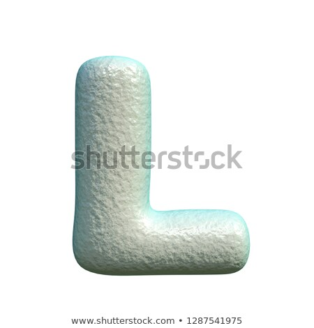 Stock photo: Grey blue clay font Letter L 3D