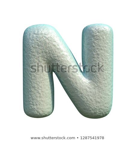 grey blue clay font letter n 3d stock photo © djmilic