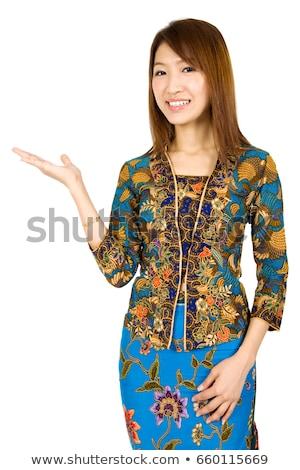 Stock fotó: Délkelet · ázsiai · nő · mutat · valami · lány