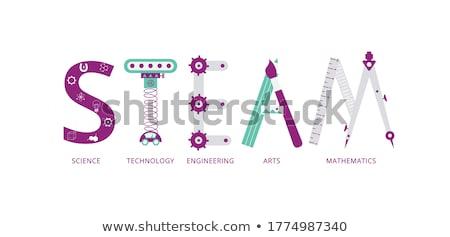 Bussola bianco insegnamento magnetico ago punta Foto d'archivio © make