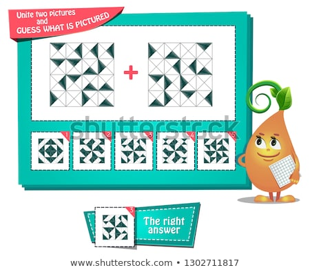 iq educational game two pictures stock photo © olena