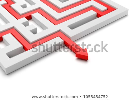 Red Arrow Coming Out of a Maze Stock photo © make
