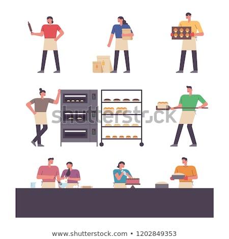 Boulangerie modernes vecteur design style illustration Photo stock © Decorwithme