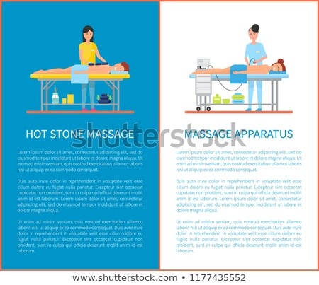 Hot Stone Massage and Apparatus Posters Vector Stock photo © robuart