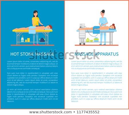indietro · caldo · pietra · massaggio · manifesti · vettore - foto d'archivio © robuart