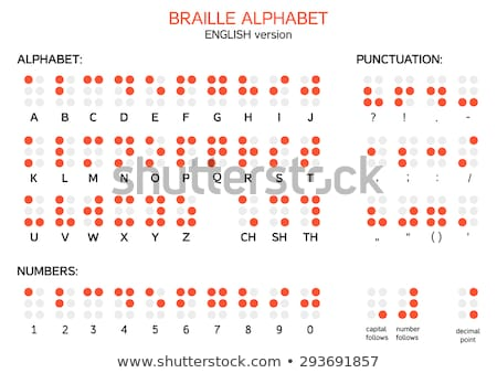 English Braille alphabet letters with numbers and punctuation. Vector Stock photo © Andrei_