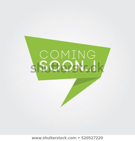 banner · bocadillo · anunciante · etiqueta · geométrico · estilo - foto stock © foxysgraphic