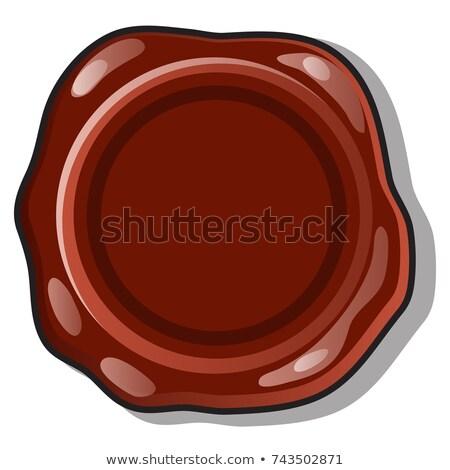 Bruin wax zegel stempel oppervlak ruimte Stockfoto © Lady-Luck