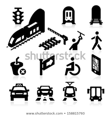 moderne · trein · geïsoleerd · isometrische · 3D · icon - stockfoto © robuart