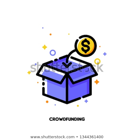 Icon of box collecting monetary contributions for crowdfunding Stock photo © ussr