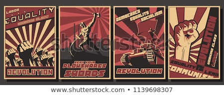 the red flag of the ussr vector illustration on white background stock photo © butenkow