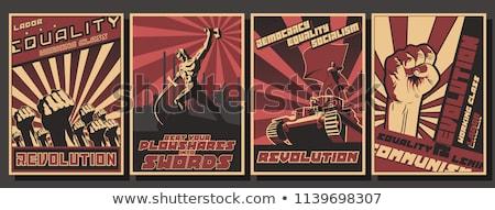 共産主義 · シンボル · 実例 · グランジ · スタイル · 赤 - ストックフォト © butenkow