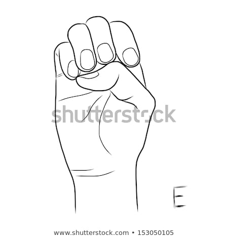 hand demonstrating e in the alphabet of signs stock photo © vladacanon