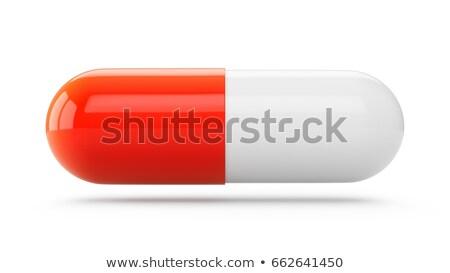 Rood · pil · geïsoleerd · ziekenhuis · pijn - stockfoto © borysshevchuk