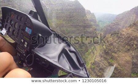 Helikopter vliegen slechte weer illustratie landschap achtergrond Stockfoto © bluering