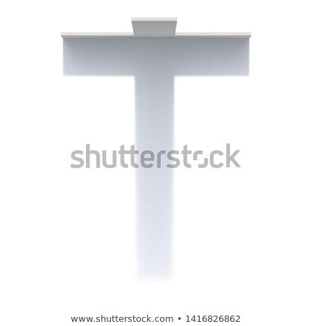 Függőleges csepp árnyék betűtípus t betű 3D Stock fotó © djmilic