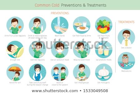 Alimentação saudável doença prevenção nutrição proteção nutritivo Foto stock © Lightsource