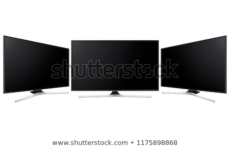 Moderne hdtv lcd scherm televisie ingesteld Stockfoto © pikepicture