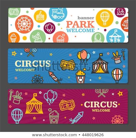 dizayn · sirk · karnaval · afişler · ayarlamak · vektör - stok fotoğraf © netkov1