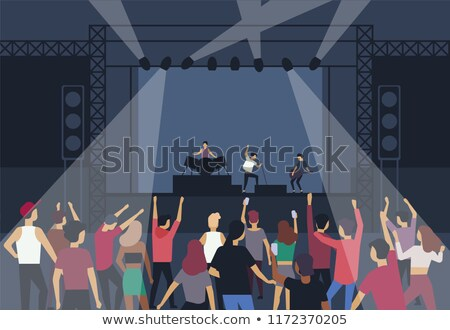 music character performing for crowd of fan people stock photo © robuart