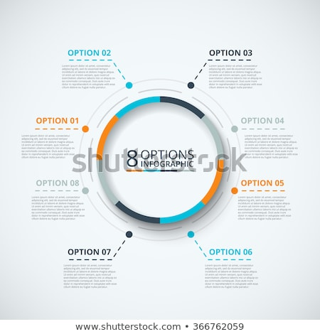 Infographic circle. Process chart. Vector diagram with 8 options. Can be used for graph, presentatio Stock photo © kyryloff