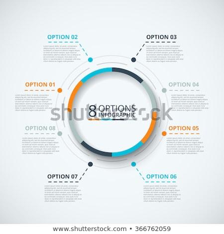 インフォグラフィック サークル プロセス グラフ ベクトル 図 ストックフォト © kyryloff