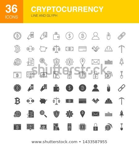 üzlet · pénzügy · szimbólumok · vonal · terv · ikon · szett - stock fotó © anna_leni