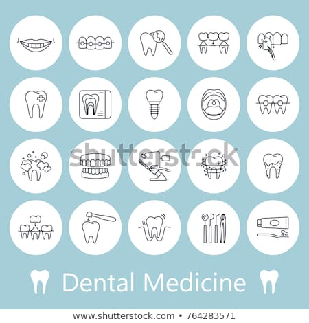Dental Prosthesis Stomatology Vector Sign Icon Stock photo © pikepicture
