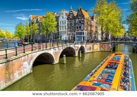 Romantic house on the canal, Amsterdam Stock photo © borisb17